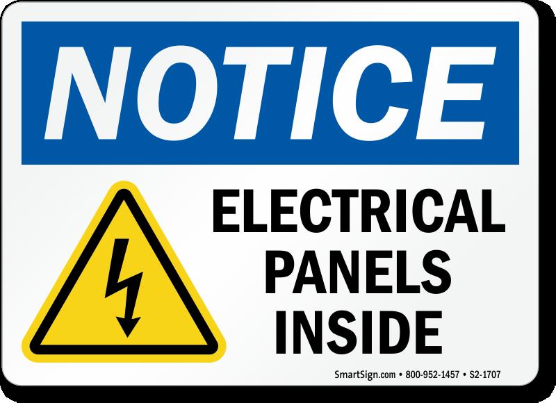 Electrical Panels Inside Sign, SKU: S2-1707 - MySafetySign.com on