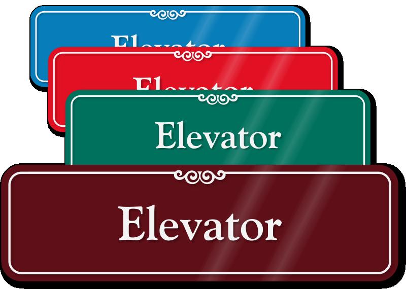 Elevator Signs | Elevator Safety Signs - MySafetySign.com