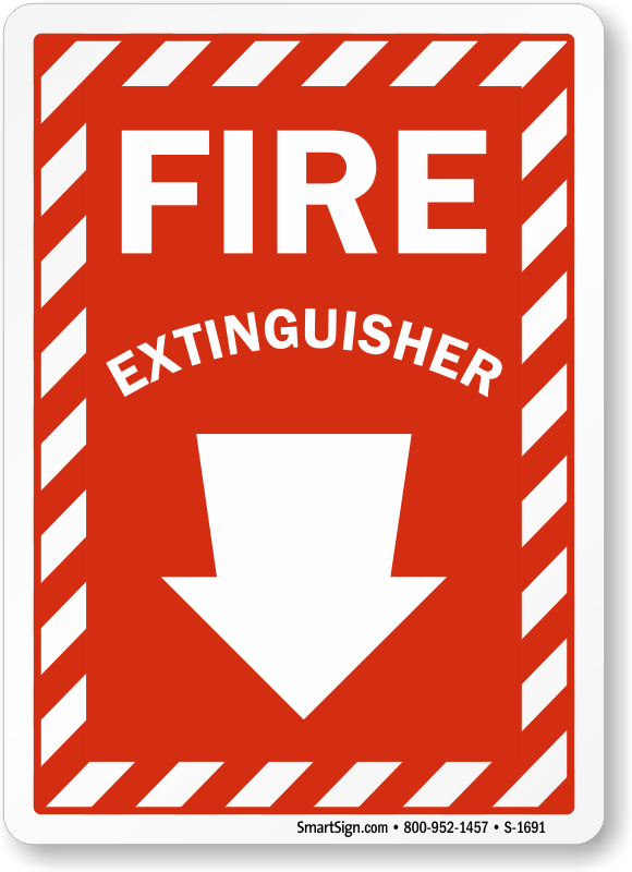 photo about Printable Fire Extinguisher Sign called Fireplace Extinguisher Indicator, SKU: S-1691 -