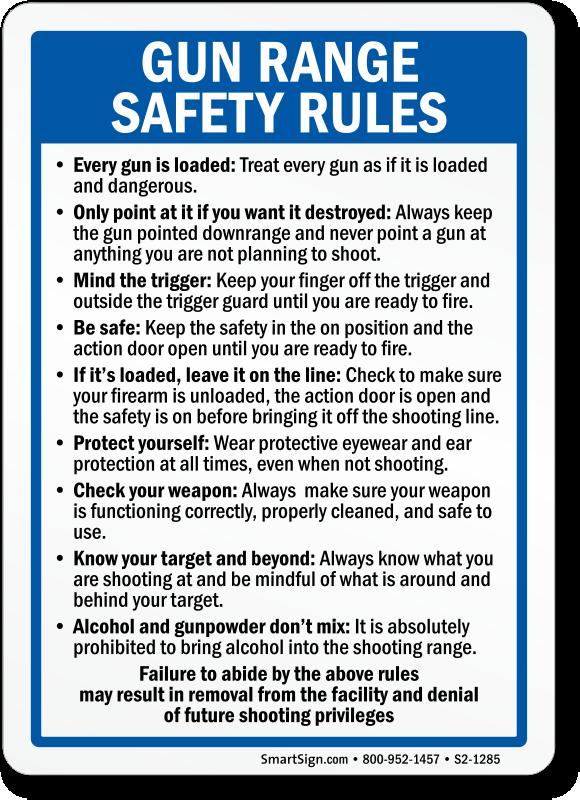 image regarding Printable Gun Safety Rules titled Gun Basic safety Symptoms Capturing Selection Gun Security Symptoms