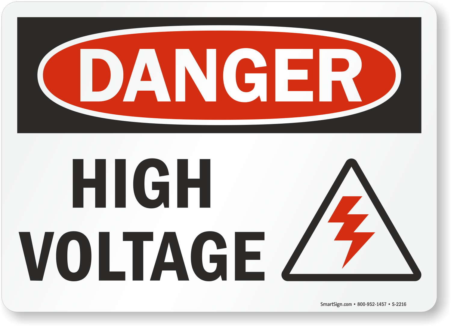 High Voltage Signs |Free Shipping on Orders Over $9.95!