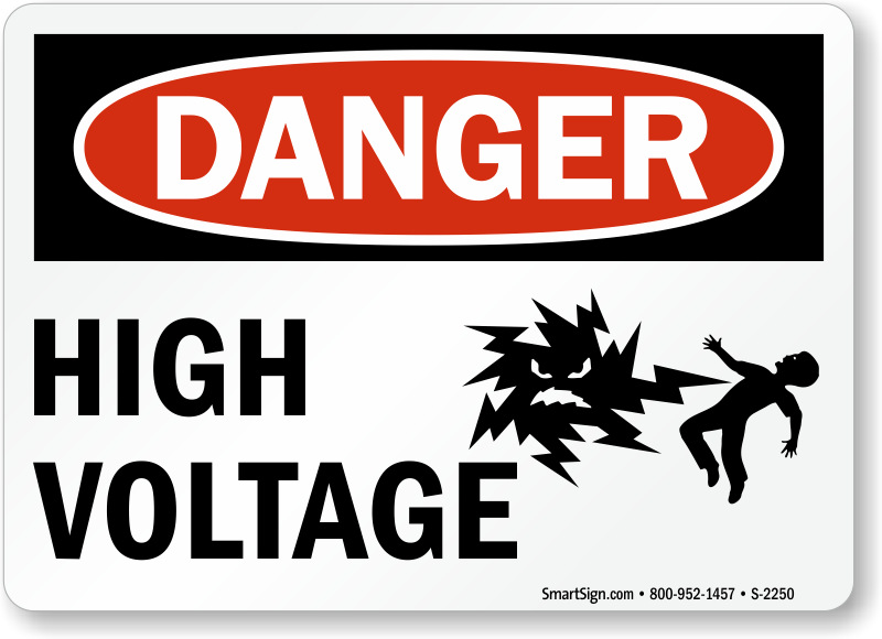 High Voltage Signs Free Shipping On Orders Over 995