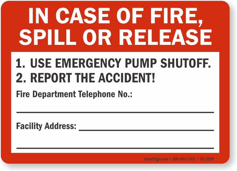 All Materials In Case of Fire Break Glass Sign FE99 Sticker