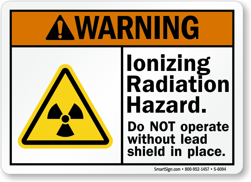 Ionizing Radiation Hazard Sign Ansi Warning Signs Sku S 6094