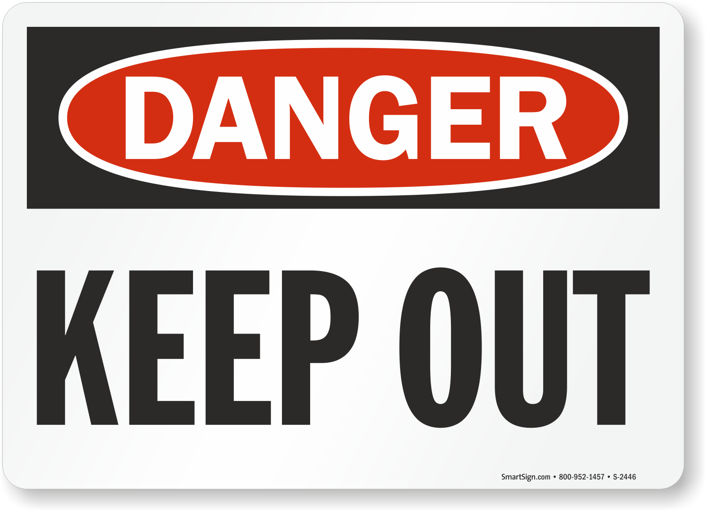 colore: nero//giallo vsafety segni 67084/ax-sDanger Keep Out Warning costruzione segno paesaggio Autoadesivo 300/mm x 100/mm