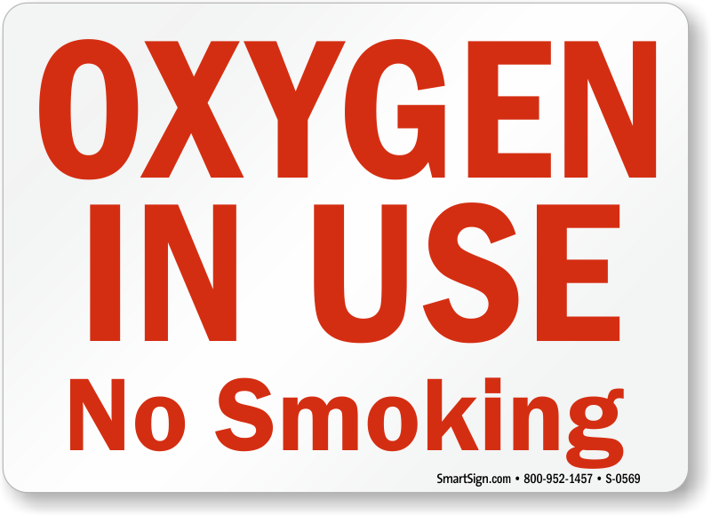 graphic about Oxygen in Use Sign Printable called Oxygen Indications Oxygen inside Retain the services of Signs and symptoms No Using tobacco - Oxygen