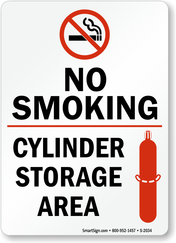 No Smoking Cylinder Storage Area Sign Sku S 2034
