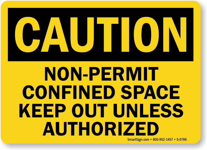 Confined Space Signs | Permit Required Confined Space Signs
