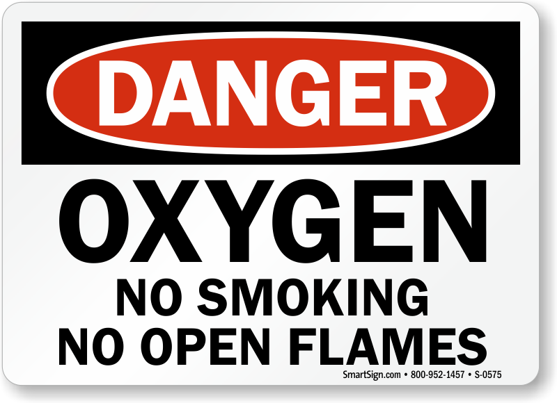 image about Oxygen in Use Sign Printable referred to as Oxygen Symptoms Oxygen within Hire Indications No Cigarette smoking - Oxygen