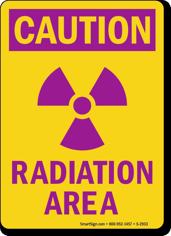 Caution Radiation Area Sign, SKU: S-2933 - MySafetySign com