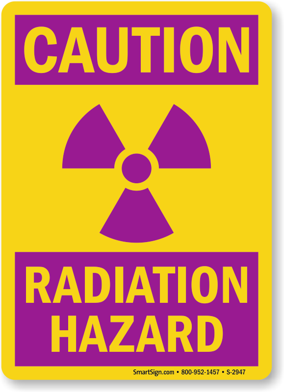 Radiation Warning Signs X Ray Radiation Warning Signs