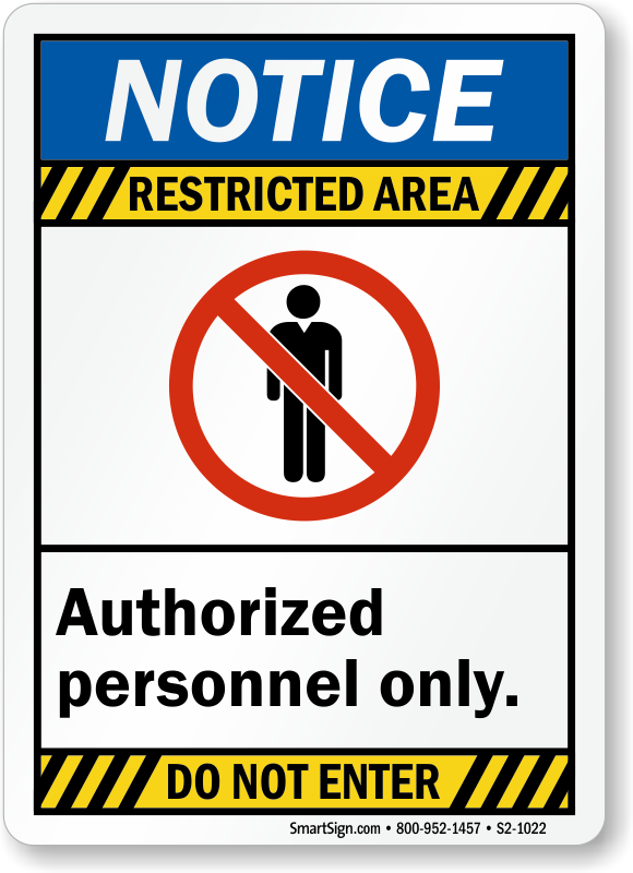 photo regarding Authorized Personnel Only Sign Printable called Do Not Input Approved Staff members Merely Signs or symptoms