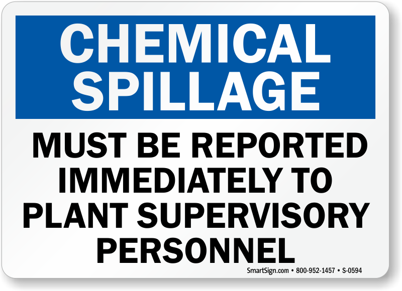 Spill Clean Up Signs Spill Response Signs Spill Kit Signs