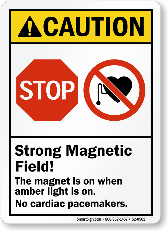 Strong Magnetic Field Magnet On When Amber Light On Sign Sku S2