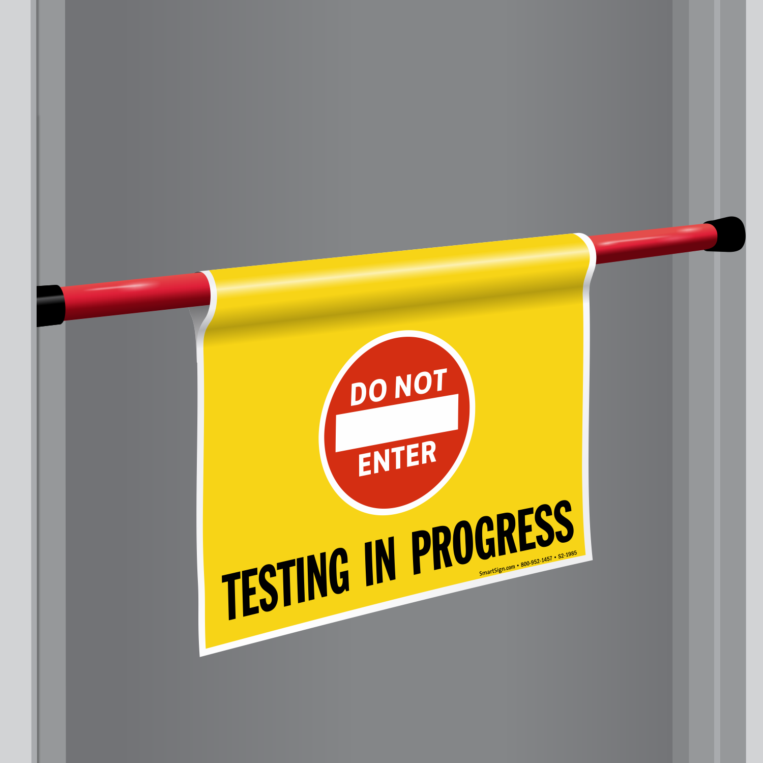 testing in progress signs