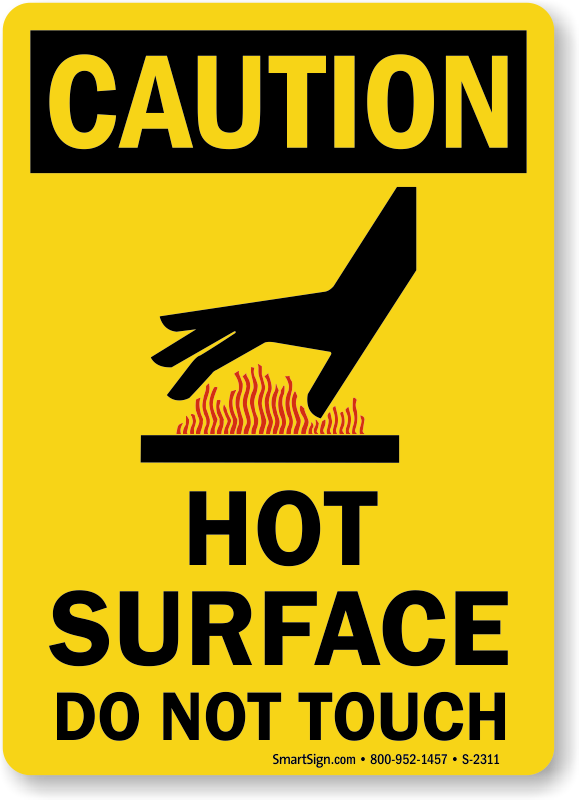 Shock Hazard Signs Do Not Touch Signs