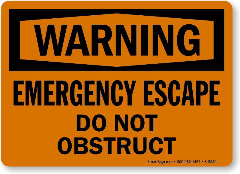Fire Escape Signs Emergency Escape Signs Escape Ladder