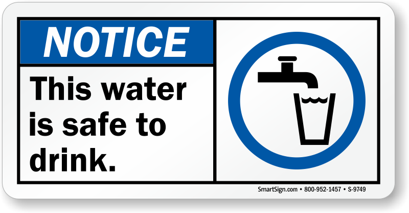 Drink More Water Signage