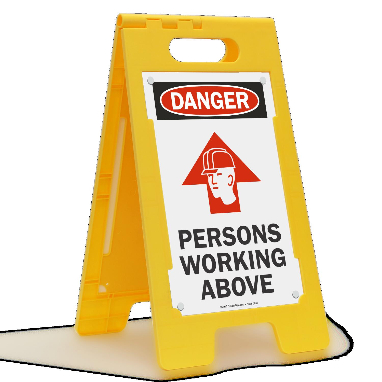 Danger Men Working Overhead Safety Signs large