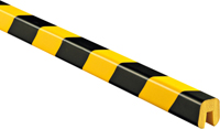 Edge Protection Bumper Guard Type G, Black-Yellow