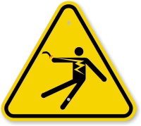 ISO Electric Body Shock Symbol Warning Sign
