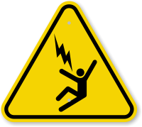 ISO Electrocution Voltage Hazard Symbol Warning Sign