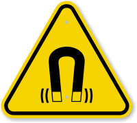 ISO Strong Magnetic Field Symbol Warning Sign