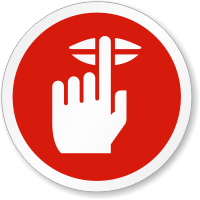 Quiet Please Finger On Lips Symbol ISO Sign