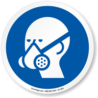 Wear Vapor Respirator ISO Circle Sign