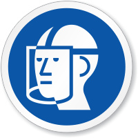 Wear Faceshield ISO Circle Sign