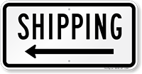 Shipping (arrow left) Shipping Sign