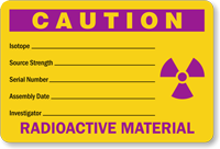 Radioactive Material Label