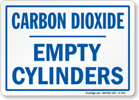 Carbon Dioxide Empty Cylinders Sign