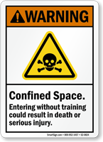 Confined Space, Entering Without Training Result Death Sign