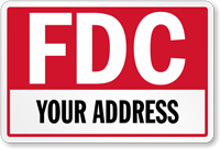 Custom FDC Address Sign