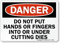 Do Not Put Hands Or Fingers Sign