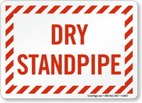 Dry Standpipe Fire and Emergency Sign