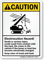 Electrocution Hazard Keep Clear ANSI Caution Sign