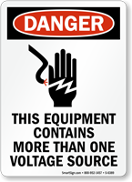 Equipment Contains More Than One Voltage Sources Sign