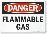 OSHA Danger Flammable Gas Sign