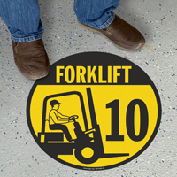 Forklift -10 (with Graphic) - Floor Sign