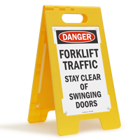 Forklift Traffic Stay Clear Danger Free-Standing Sign