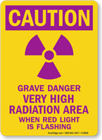 Caution Grave Danger Very High Radiation Sign