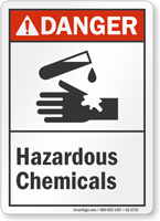 Hazardous Chemicals ANSI Danger Sign