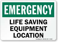 Life Saving Equipment Location Sign
