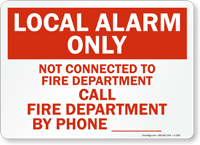 Local Alarm Only Not Connected Sign