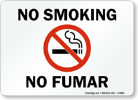 No Smoking / No Fumar Sign with Symbol