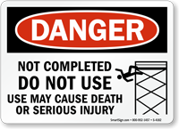 Danger Sign: Do Not Use May Cause Death