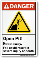 Open Pit Keep Away Result In Injury Sign