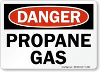 Danger Propane Gas Sign